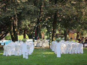 Allestimento Villa Castelbarco matrimonio civile
