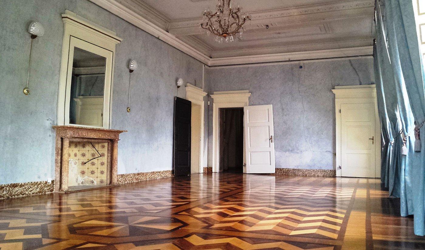 Sala azzurra - location eventi Milano - Villa Castelbarco